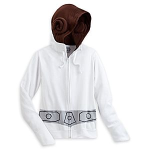 Princess Leia Costume Hoodie for Adults - Star Wars