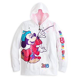Sorcerer Mickey Mouse and Friends Zip Hoodie for Women - Walt Disney World 2016