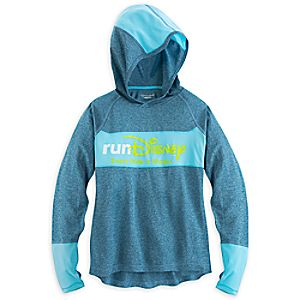 runDisney Powertrain Long Sleeve Hooded Tee for Women by Champion
