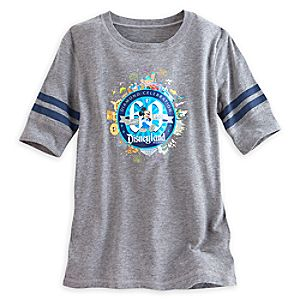 Mickey Mouse Football Tee for Women - Disneyland Diamond Celebration