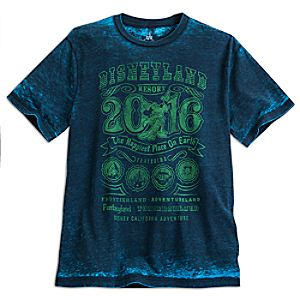 Sorcerer Mickey Mouse Tie-Dye Tee for Adults - Disneyland 2016