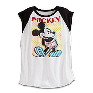 Mickey Mouse Sleeveless Raglan Tee for Women