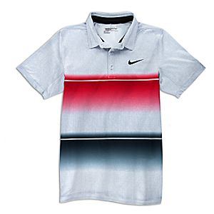 Mickey Mouse Banded Performance Polo Shirt for Men by NikeGolf - Gray