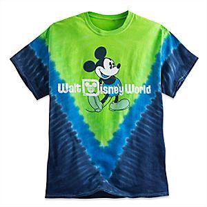 Mickey Mouse Tie-Dye Tee for Adults - Blue & Green - Walt Disney World