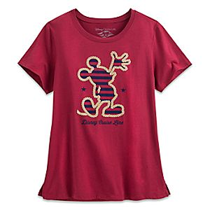 Mickey Mouse Silhouette Tee for Women - Disney Cruise Line