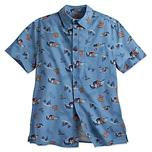 Mickey Mouse Tiki Aloha Shirt for Men