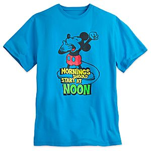 Mickey Mouse Mornings Tee for Men