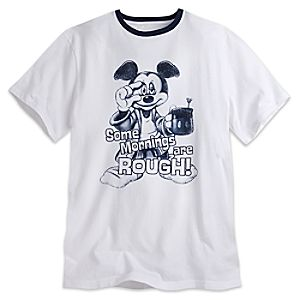 Mickey Mouse Some Mornings Are Rough Tee for Men