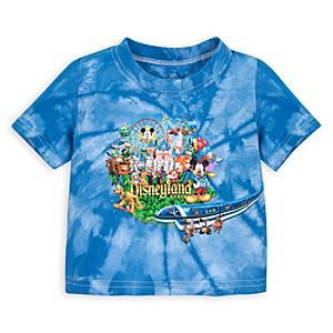 Tie Dye Storybook Disneyland Tee for Baby Boys