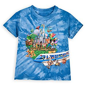Tie Dye Storybook Walt Disney World Tee for Toddler Boys