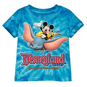 Tie-Dye Disney Storybook Attractions Disneyland Tee for Babies
