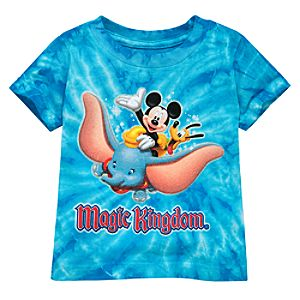 Disney Storybook Attractions Magic Kingdom Tie-Dye Tee for Infants