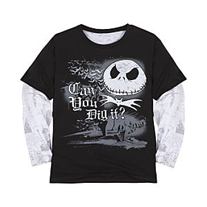 Double-Up Long Sleeve Jack Skellington Tee for Infant Boys