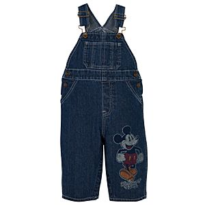 Denim Mickey Mouse Overalls for Toddler Boys