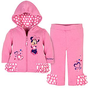 Walt Disney World Minnie Mouse Fleece Tracksuit for Infant Girls