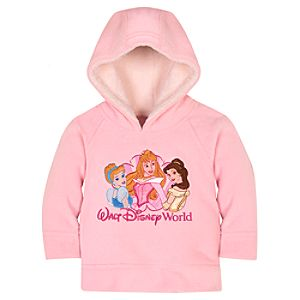 Raglan Pullover Disney Princess Fleece Hoodie for Infant Girls
