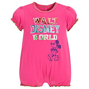 Chromatic Mickey Mouse Romper for Baby Girls -- Pink