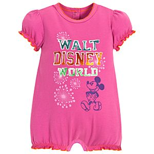 Chromatic Mickey Mouse Romper for Baby Girls -- Purple