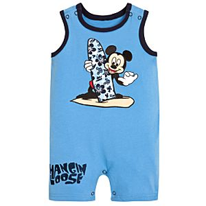 Hangin Loose Mickey Mouse Romper for Baby Boys