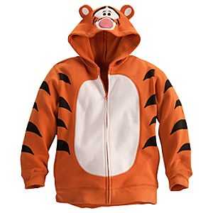 Costume Tigger Fleece Hoodie for Boys