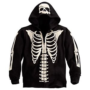Costume Pirates of the Caribbean Skeleton Fleece Hoodie for Boys
