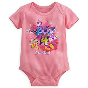 Sorcerer Mickey Mouse and Friends Bodysuit for Baby - Disneyland 2014 - Pink