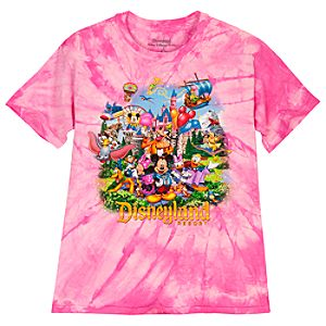 Tie-Dye Storybook Disneyland Resort Tee for Girls