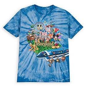 Tie Dye Storybook Disneyland Tee for Boys