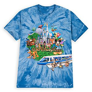 Tie Dye Storybook Walt Disney World Tee for Boys