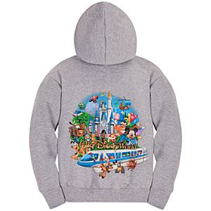 Zip Fleece Storybook Walt Disney World Hoodie for Girls