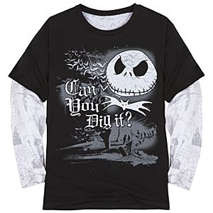 Double-Up Long Sleeve Jack Skellington Tee for Boys