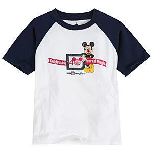 Walt Disney World 40th Anniversary Raglan Mickey Mouse Tee for Boys