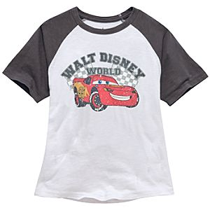 Raglan Walt Disney World Lightning McQueen Tee for Boys