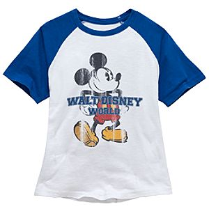 Raglan Walt Disney World Mickey Mouse Tee for Boys