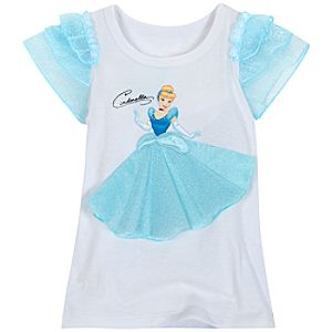 Glittering Gown Cinderella Tee for Girls