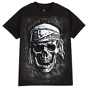 Puffy Skull Pirates of the Caribbean Tee for Boys