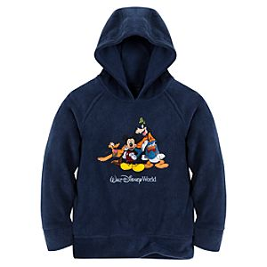 Raglan Mickey Mouse Fleece Hoodie for Boys