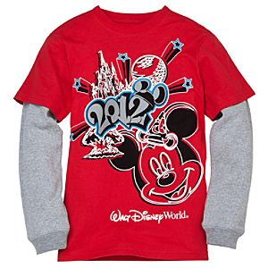 Double-Up Long Sleeve 2012 Walt Disney World Tee for Boys