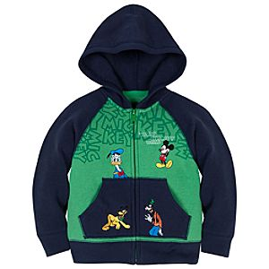 Raglan Mickey Mouse and Friends Hoodie for Toddler Boys