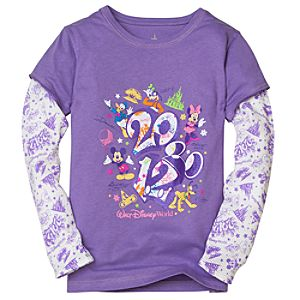 Double-Up Long Sleeve 2012 Walt Disney World Tee for Girls