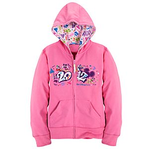 Zip Fleece 2012 Walt Disney World Hoodie for Girls
