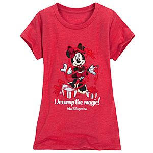 Walt Disney World Holiday Minnie Mouse Tee for Girls