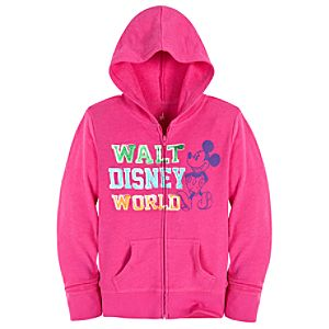 Chromatic Hooded Walt Disney World Mickey Mouse Jacket for Girls