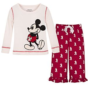 Holiday Mickey Mouse Pajama Set -- 2-Pc.