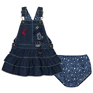 Denim Minnie Mouse Jumper for Toddler Girls