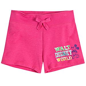 Chromatic Pink Walt Disney World Mickey Mouse Shorts for Girls