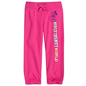 Chromatic Pink Walt Disney World Mickey Mouse Capri Pants for Girls
