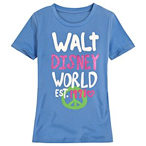 Peace Walt Disney World Tee for Girls