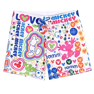 Sublimated I Heart Mickey Mouse Shorts for Girls