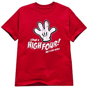Gimme a High Four! Mickey Mouse Tee for Boys
